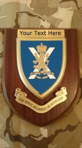 Royal Regiment of Scotland Personalised Military Wall Plaque